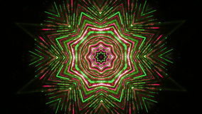 Abstract floral ornament kaleidoscope stock footage