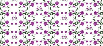 Abstract Floral ornament pattern Stock Image