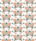 Abstract Floral ornament pattern Royalty Free Stock Images