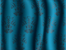 Abstract Floral ornament pattern on silk background Stock Images