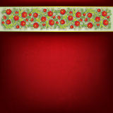 Abstract floral ornament on red background Royalty Free Stock Images