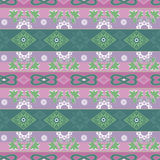 Abstract floral ornament seamless geometrical pattern on colorfu Royalty Free Stock Photography