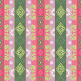 Abstract floral ornament seamless geometrical pattern on colorfu Stock Image