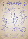 Abstract floral ornament set Stock Images
