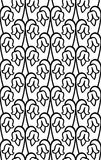 Abstract floral ornament. Simple template for carpet, wallpaper, textile and any surface. Seamless black and white pattern Royalty Free Stock Image