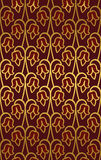 Abstract floral ornament. Simple template for carpet, wallpaper, textile and any surface. Seamless burgundy pattern stock illustration