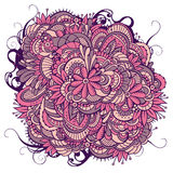 Abstract floral ornamental doodles background. Royalty Free Stock Photography