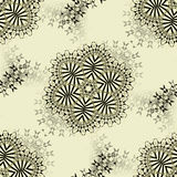 Abstract floral ornaments gray and black on beige Stock Photo