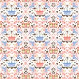 Abstract floral and panda Royalty Free Stock Image