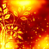 Abstract floral pattern. On gradient background stock illustration
