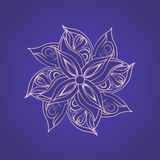 Abstract floral pattern against purple background Royalty Free Stock Images