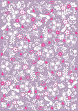 Abstract floral pattern background Stock Photo