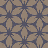 Abstract floral pattern. Beige and dark blue vector background. Geometric leaf ornament. Royalty Free Stock Images