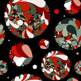 Abstract floral  pattern with circles. Royalty Free Stock Photography