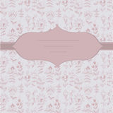 Abstract floral pattern. contour hand-drawn Royalty Free Stock Photo