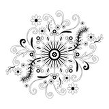 Abstract Floral Pattern, Contour Royalty Free Stock Photo