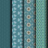 Abstract floral pattern, dark green. Can be used endlessly Stock Photos