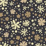 Abstract floral pattern in doodle style vector illustration