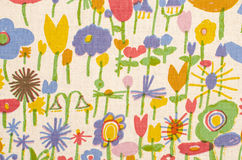 Abstract floral pattern on fabric. Stock Photography