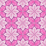 Abstract floral pattern. Geometric ornament seamless background. Stock Image