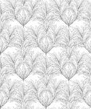 Abstract floral pattern. Leaf seamless backgound. Royalty Free Stock Images
