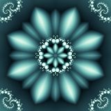 Abstract floral pattern with pearl spirals ornament. Beautiful abstract floral pattern with an ornament of pearl spirals on a dark background in the form of a royalty free stock photography