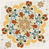 Abstract floral pattern with petals Stock Image