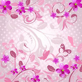 Abstract floral pattern pink Royalty Free Stock Photos
