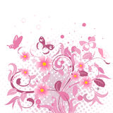 Abstract floral pattern pink Royalty Free Stock Photo