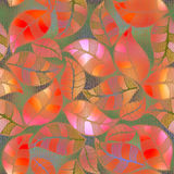 Abstract floral pattern pink foliage Royalty Free Stock Photos