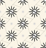 Abstract floral pattern. Seamless  background. Black and white ornament. Graphic modern pattern. Royalty Free Stock Photos