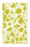 Abstract floral pattern, sketch for your design Stock Photography