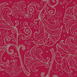 Abstract  floral pattern with stylized lilies Stock Photography