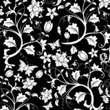 Abstract floral pattern, vector stock illustration