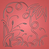 Abstract floral pattern. Abstract vector floral pattern on pink background Royalty Free Stock Images