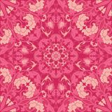 Pink floral pattern. Abstract floral pattern. Vector pink background. Template for textile, carpet, shawl Royalty Free Stock Photos