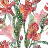 Abstract floral pattern Stock Image