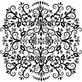 Abstract floral pattern, vector wicker ornament. Black ornate tracery in eastern style with a lot of curls and many details, arabe. Sque, print for fabric Royalty Free Stock Photo