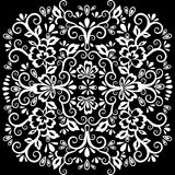 Abstract floral pattern, vector wicker ornament. White ornate tracery in eastern style with a lot of curls, tattoo sketch, arabesq. Abstract floral pattern Stock Photo