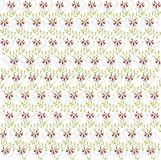 Abstract floral pattern on white. Burgundy flowers, green leaves. Spring, summer Stock Photo