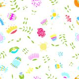 Abstract floral pattern for your design Royalty Free Stock Image