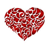 Abstract floral patterned heart. Valentines day card concept. Flourish doodle swirl design Stock Photos