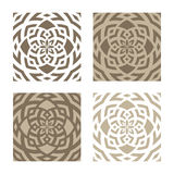 Abstract floral patterns. Set of four different abstract floral patterns isolated on white background Royalty Free Stock Photography