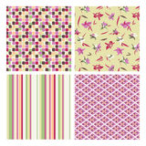 Abstract and floral patterns Royalty Free Stock Images