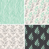 Abstract floral patterns vector illustration