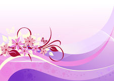 Abstract floral pink background Stock Image