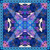 Abstract floral print. Bandana, napkin, shawl, tablecloth. Vector. Abstract floral print. Bandana. Design for scarf, napkin, shawl. Lovely tablecloth. Vector stock illustration