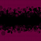 Abstract floral purple and black background Stock Image