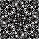 Abstract floral repeat silver Stock Image