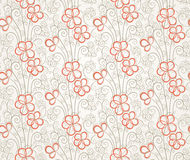Abstract floral seamless background Stock Photos